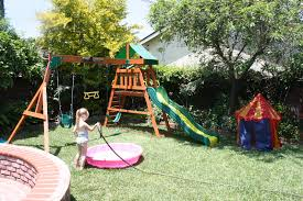 Small Backyard Landscaping Designs With Kids Playground Intended For Back