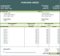 purchase order spreadsheet purchase order template on click here to download our free