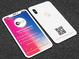 Iphone X Style Business Card Unique Business Card Design