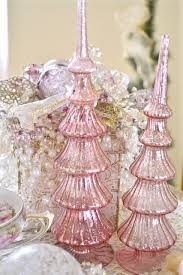 bethany lowe designs vintage style pink finial tree topper pink finial tree topper mercury glass with glitter miniature mercury glass pink ad silver