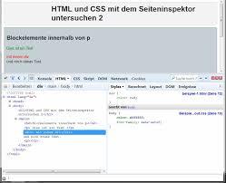 HTML/Tutorials/HTML & CSS mit dem Seiteninspektor untersuchen ...