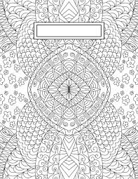 Coloring Page Binder Cover Back To School Binder Cover Adult Coloring Pages Bullet Journaling