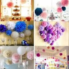 Diy Flower Balls Tissue Paper Details About Tissue Paper Pom Poms Flower Balls Wedding Party Hanging P 01