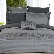 full image for zebra print duvet cover nz seasons collection seven piece embroidered duvet cover set