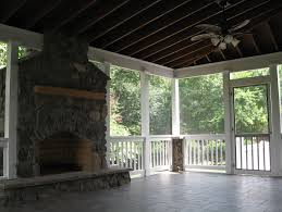 screened in porch with fireplace. Screen Porch Fireplace Ideas Home Design Screened In With
