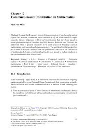 construction and constitution in mathematics springer inside