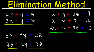 elimination method for solving systems of linear equations using addition and multiplication algebr