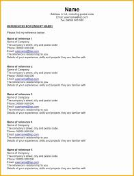Personal Reference List Template Personal Reference List Template 23