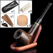 firedog 6 in 1 classic health straight smoking pipe cool pouch wooden pipe cleaning