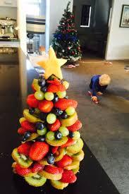 fruit christmas tree. Simple Christmas Fruitchristmastree Throughout Fruit Christmas Tree T