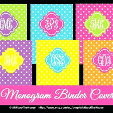 Free Cover Templates Free Binder Cover Templates Printable Monogram Intended For Covers