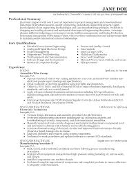 Basic Resume Template Mechanical Engineering Resume Templates