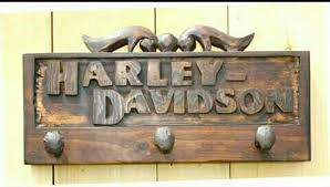 Harley Davidson Coat Rack Mesmerizing Harley Davidson Coat Rack Harley Items Made From Wood Pinterest