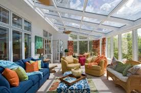 Sunrooms Ideas Traditional Sunroom Design With Two Conversation Zones For Decorating