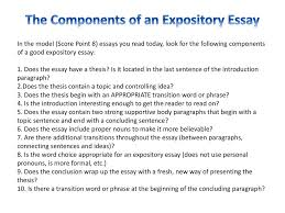 The Components Of An Expository Essay Ppt Download