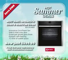 save on neff ovens with euronics hot summer deals at chapmans