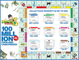 mcdonalds monopoly board for 2018 print money monopoly game board