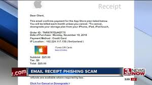 Phishing Scam Phishing Scam Targets Fake Receipt Emails