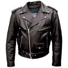 allstate leather inc men s black buffalo leather motorcycle jacket