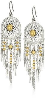 Dream Catcher Earing Amazon Lucky Brand Dream Catcher Earrings Jewelry 80
