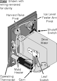 domestic refrigerator icemakers repair manual chapter  inside the refrigerator icemaker head
