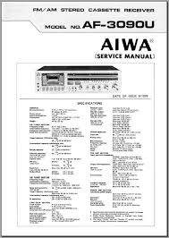 aiwa af 3090u service manual analog alley manuals aiwa af 3090u fm am stereo cassette receiver 1978 approx 32 pages including 4 poster sized color diagrams