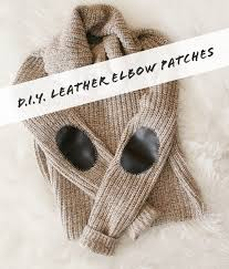 diy leather elbow patches