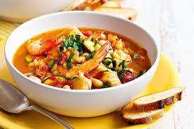 Italian Seafood Soup With Garlic ...
