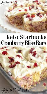 Low carb recipes dessert image by ashley gratiano on Keto | Cranberry bliss  bars, Low carb sweets
