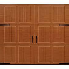 pella carriage house 96 in x 84 in golden oak single garage door