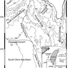 Hubbard Scientific Physiographic Chart Of The Seafloor Bathymetric Map Showing That The Sea Floor Of The Marine