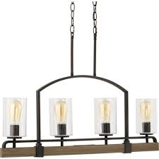 Home Decorators Collection 3Light 15 In Bronze Prismatic Glass Home Decorators Collection Lighting