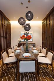 Dinning Rooms:Smalll Asian Dining Room With Oval Dining Table And Unique  Modern Dining Chairs