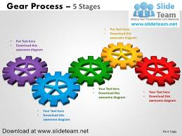 smartart powerpoint templates interconnected gear pieces smart arts process 5 stages style 2 power