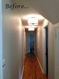 for a spacious hallway you can a ceiling lamp with a large number of lamps or use not one but several lamps located on the ceiling in accordance with