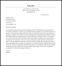 What Does A Cover Letter Look Like Elemental Concept Dispatcher