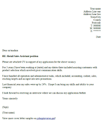 Retail Sales Assistant Cover Letter Example Resume Cover
