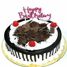 Send Black Forest Cake With Happy Birthday Candle Online Free