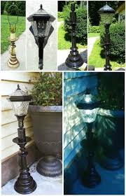 do it yourself outdoor lighting. Use A Landscape Light Fitted Down Inside Lamp Base...top Off With Shade For Easy Outdoor Light! | Spaces Pinterest Bases, Do It Yourself Lighting S