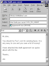Example Of A Fax Message Fax1 Internet Fax Solutions