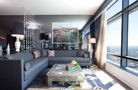 view in gallery tufted sectional sofa at the ritz carlton residences