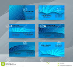 Business Card Background Blue Set Of Horizontal Templates10 Stock