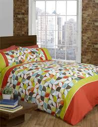 lime green orange purple quilt duvet cover  pcase bed set