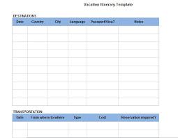 Make A Vacation Itinerary 30 Itinerary Templates Travel Vacation Trip Flight