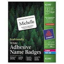 Avery 42395 Ecofriendly Name Badge Labels 2 1 3 X 3 3 8 White 160 Box