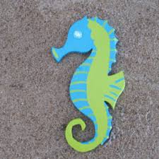 blue and lime green seahorse w glass bead handpainted beach dec on seahorse wall art for bathroom with shop seahorse decor on wanelo