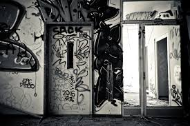 free images black and white architecture road atmosphere home mystical dark color broken abandoned decay ruin old building graffiti