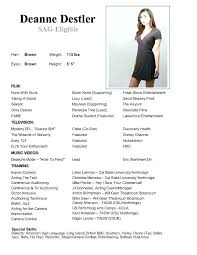 X Acting Modeling Resume Template Child Actor Sample Kennyyoung