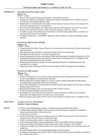 Financial Specialist Resume Samples Velvet Jobs