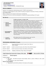 Josh CV-QAQC Engineer (1). PROFILE SUMMARY: Bachelor of Civil Engineering,  skilled professional with 5+ YEARS of total ...